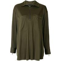 Alcaçuz camicia con zip adele - verde