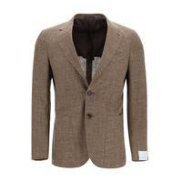 CARUSO blazer tosca in misto lana seta e lino 50 beige lana