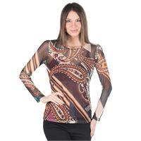 Officina della Moda blusa made in italy in tulle stampato