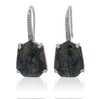 Hilary Joy Couture orecchini ad amo con pietra naturale