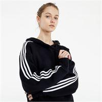 adidas Originals short hoodie black