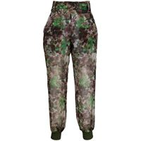 Mr & Mrs Italy pantaloni blossom con stampa camouflage - verde