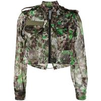 Mr & Mrs Italy giacca blossom camouflage - verde