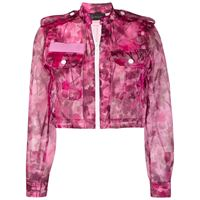 Mr & Mrs Italy giacca blossom camouflage - rosa