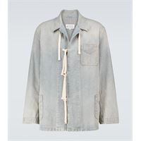 Maison Margiela giacca di jeans a righe