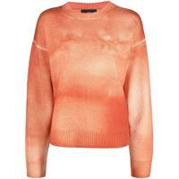 Alanui maglione con fantasia tie dye - arancione