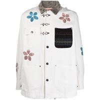 Alchemist giacca-camicia con applicazioni a fiori - bianco