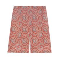 Gucci bermuda con stampa paisley - arancione