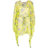 TWINSET abito corto con stampa paisley - giallo