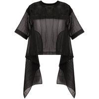 Uma Wang top semi trasparente - nero