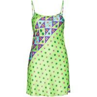 Frankies Bikinis abito corto aster con stampa - verde