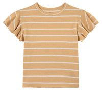 Play Up - stripe jersey t-shirt straw - bambina - 6 anni - giallo