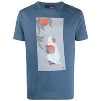 Lardini t-shirt con stampa - blu