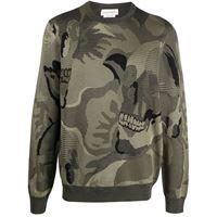 Alexander McQueen maglione con stampa camouflage - verde