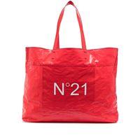 Nº21 borsa shopper con stampa - rosso
