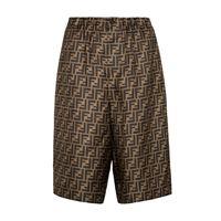 Fendi shorts in raso di seta ff