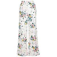 Alessandra Rich pantaloni a stampa floreale in cotone