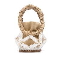 0711 borsa a secchiello star con decorazione - marrone