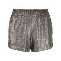 Majestic Filatures shorts con vita raccolta - verde