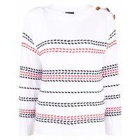 LUISA SPAGNOLI maglione con dettaglio cuciture - bianco