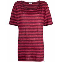 Saint Laurent t-shirt a righe - rosso