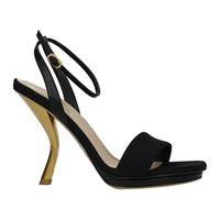 Christian Dior sandali sculpture donna tessuto nero 37