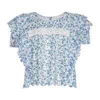 LOVESHACKFANCY blusa nelson a stampa in cotone