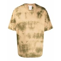 Acne Studios t-shirt con fantasia tie dye - toni neutri