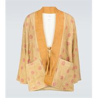 visvim giacca kimono kiyari in pelle