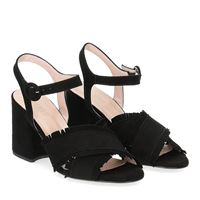 Il Laccio sandalo 1606 camoscio nero