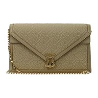 Burberry pochette donna pelle beige one size