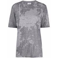 Saint Laurent t-shirt con fantasia tie dye - grigio