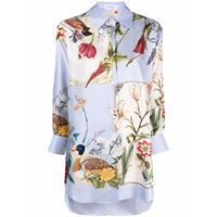 Salvatore Ferragamo camicia a fiori - blu