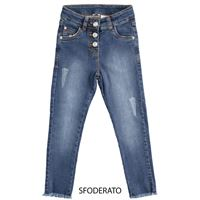 Sarabanda - jeans jegins elasticizzato stone washed ragazza