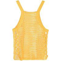 Dion Lee top semi trasparente - giallo