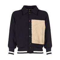 MAISON MARGIELA giacca varsity in lana con patch