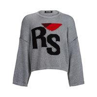 Raf Simons maglione con effetto jacquard - grigio