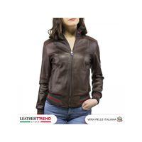 Leather Trend Italy bomber donna in vera pelle nappa artigianale edizione speciale