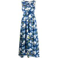 Altea abito lungo a fiori - blu
