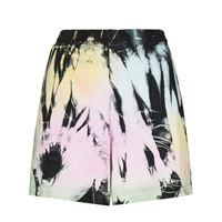 Come Back As A Flower shorts a vita alta con fantasia tie dye - rosa