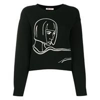 Ports 1961 maglione a girocollo fully fashioned - nero