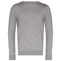 Maison Kitsuné maglione con applicazione - grigio