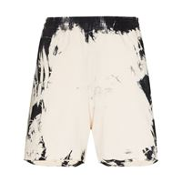 Come Back As A Flower shorts sportivi con fantasia tie dye - toni neutri