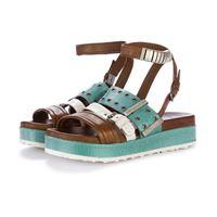 MJUS sandali donna MJUS   marrone bianco azzurro