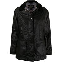 Barbour giacca beadnel waxed - nero