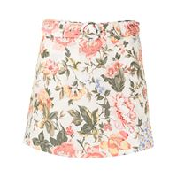 Faithfull the Brand shorts stile gonna a fiori - bianco
