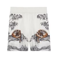 Burberry shorts con stampa - bianco
