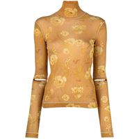 Nanushka blusa larson - giallo