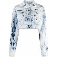Philipp Plein giacca denim crop - blu