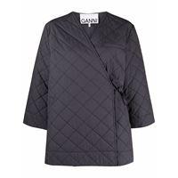 GANNI giacca trapuntata - grigio
